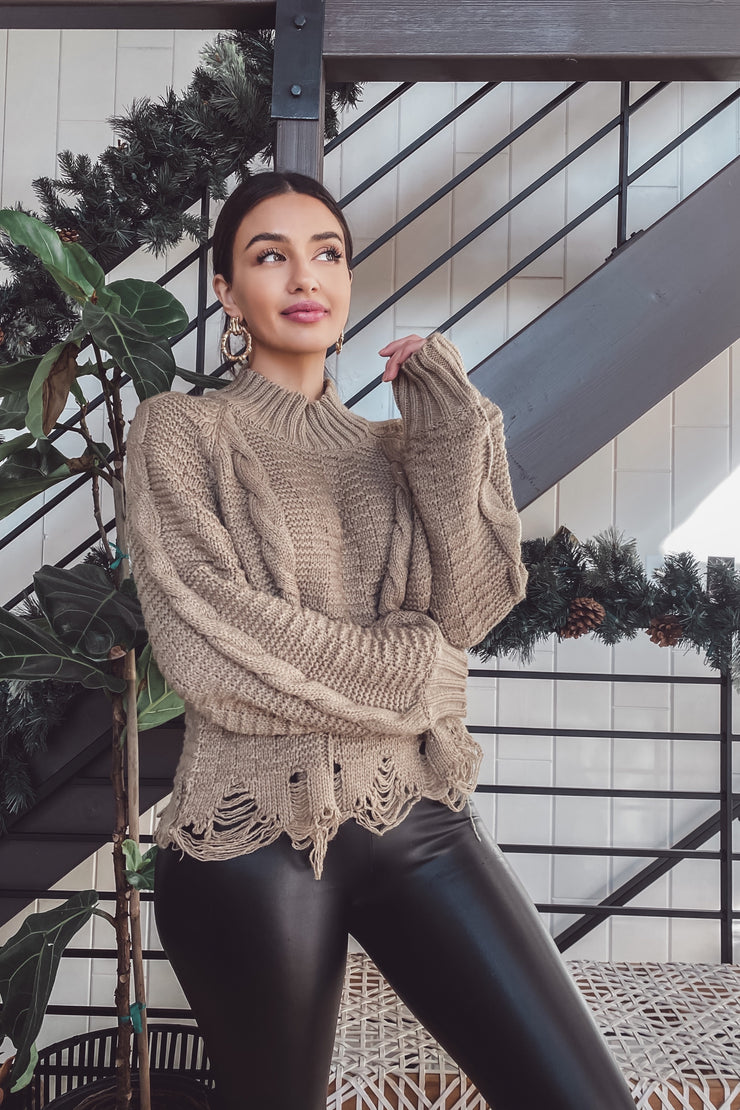 Ally Knit Sweater - Olive