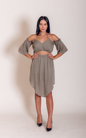 Olivia Open Shoulder Dress