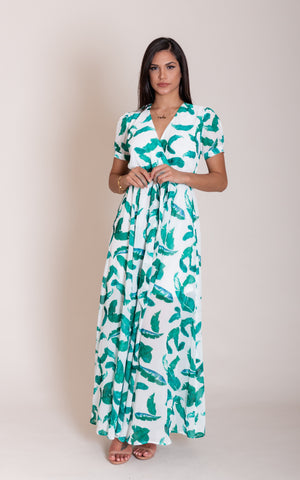 Clair Long Leaf Dress