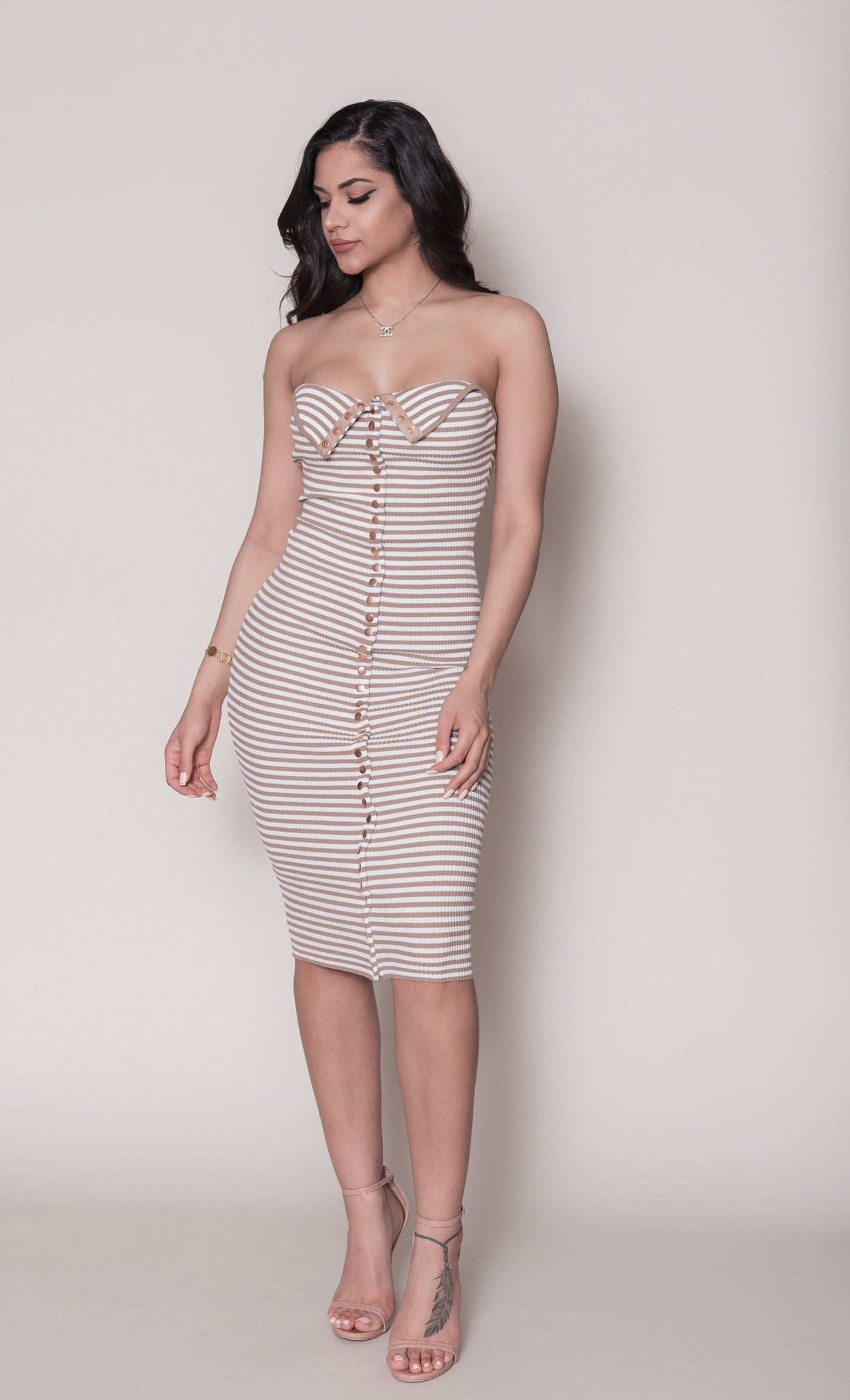 Mara Striped Rib Dress
