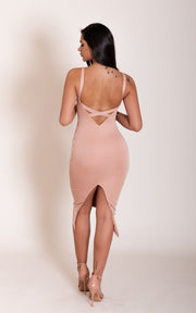 """JANICE"" Blush Open Back Dress"