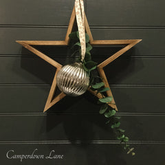 Star, bauble and eucalyptus Decoration