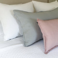 Pink and Grey Linen cushions
