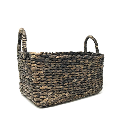 Black Rectangle Basket Large