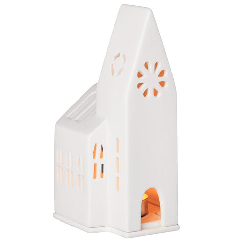 Porcelain Light Up Church Small