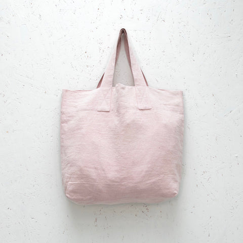 Natural Fibre Shopper in Pink