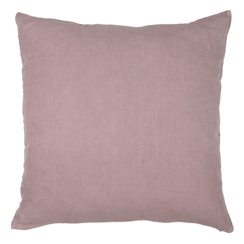 Dusky Pink Linen Square Cushion