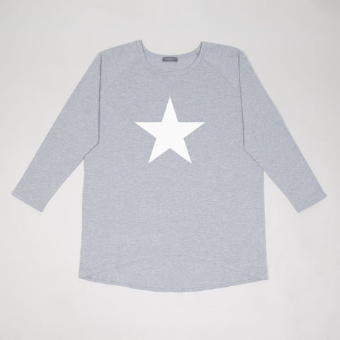 Star Top in Grey Marl