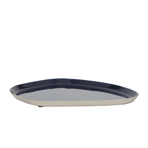Asymmetric Tray in Dark Blue