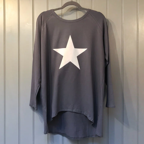 Star Top in Charcoal