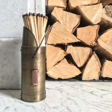 Antique Bronze Matchstick Holder