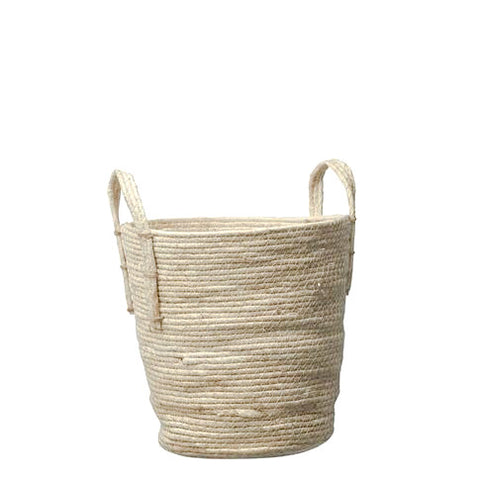 Rustic Light Woven Basket Small