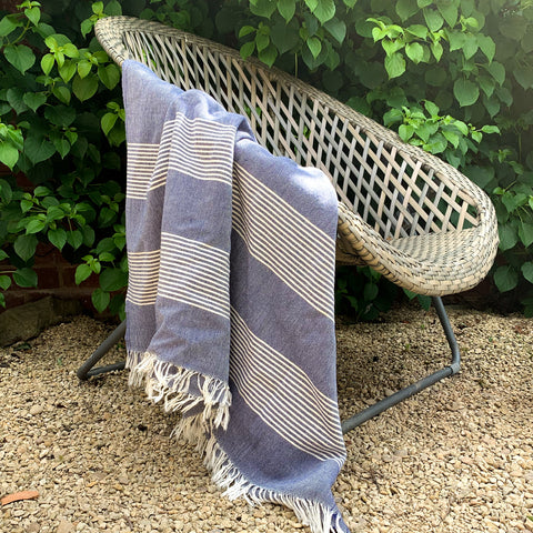 Cotton Hamam Towel in Navy