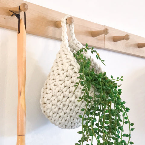 Cotton Hanging Wall Basket