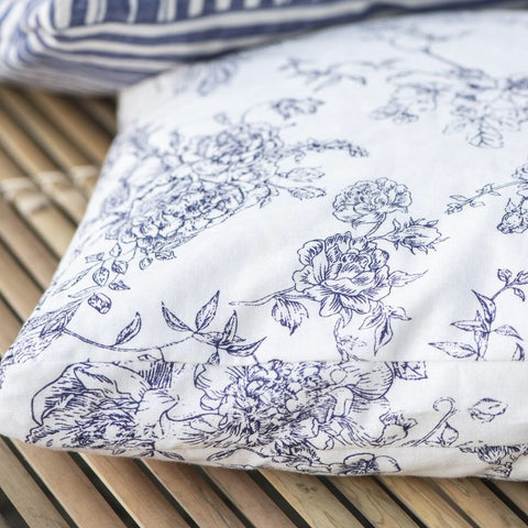 Blue And White Floral Cushion