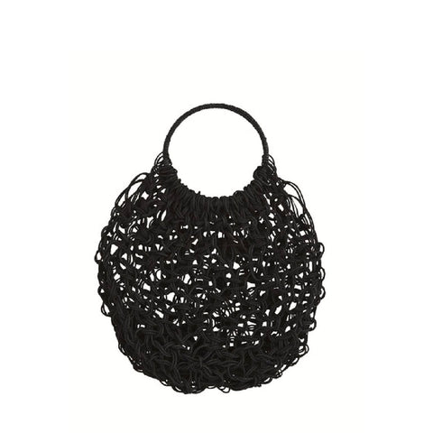 Jute Macrame Bag - Black