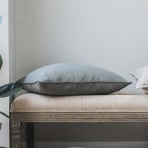 Olive Green Linen Cushion
