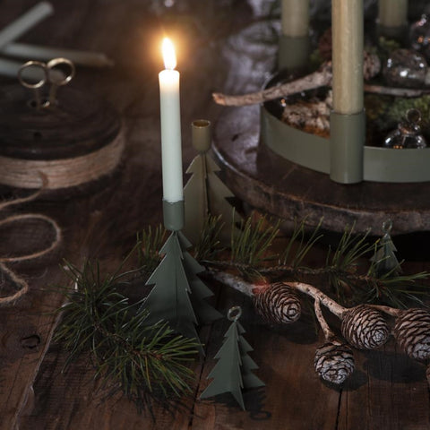 Green Christmas Tree Candle Holder