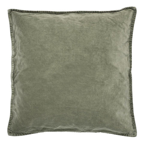 Velvet Cushion Olive Green