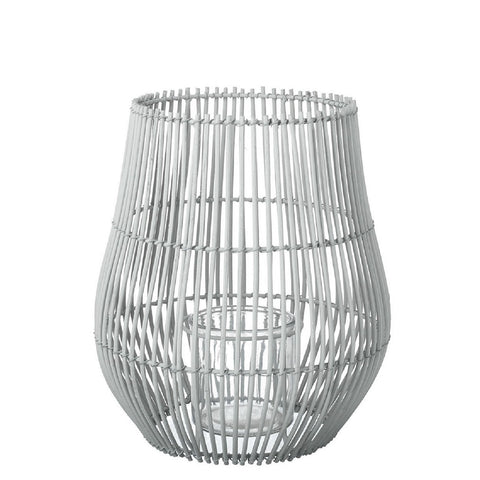 Rattan Lantern - Light Grey - Large
