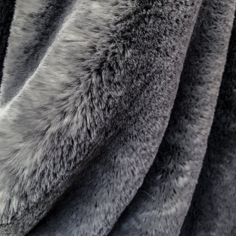 Helen Moore Faux Fur Comforter in Grey Cloud