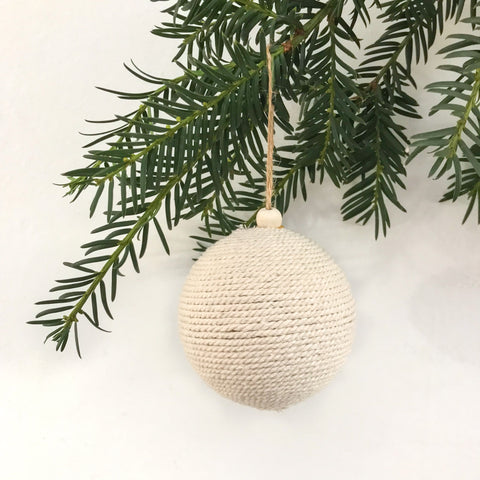Ivory Rope Bauble - Small