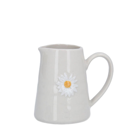 Mini Ceramic Jug with Daisy