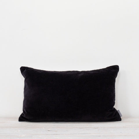 Velvet Rectangle Cushion Black