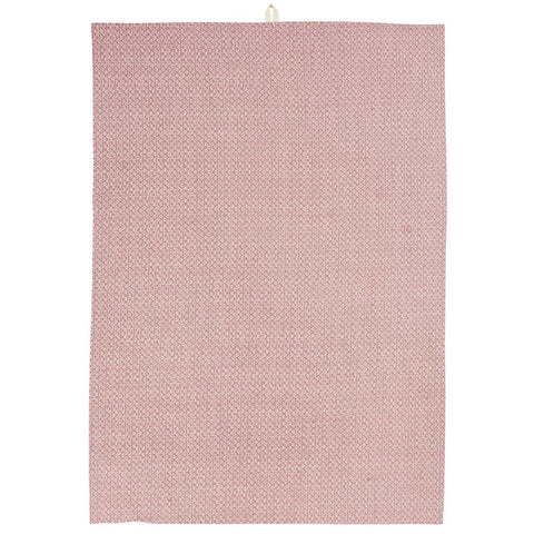 Pink and White Teatowel