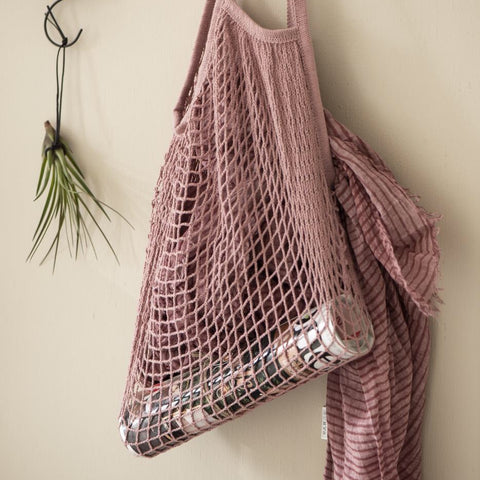 Pink Mesh Shopping Bag