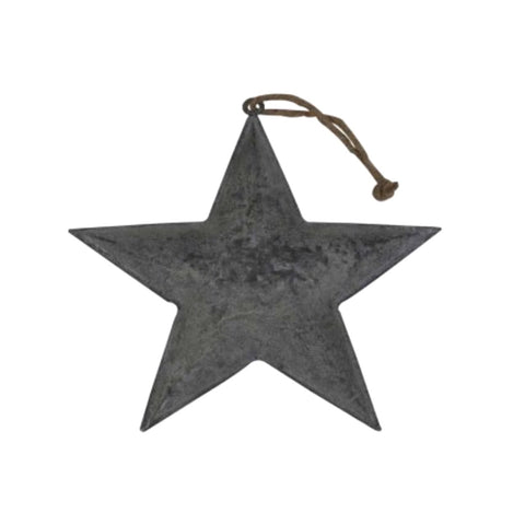 Zinc Hanging Star Large