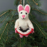 Felt Mouse Tree Decorations