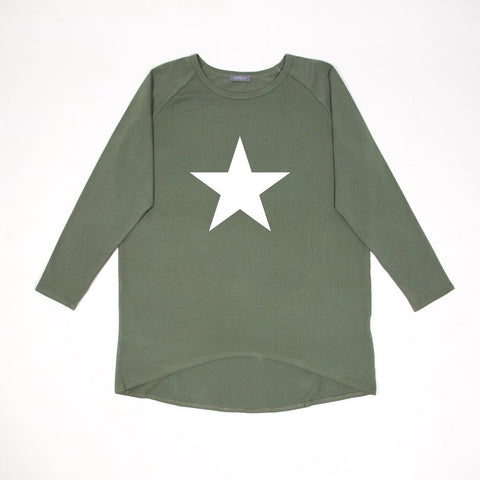 Star Top in Khaki with White Star