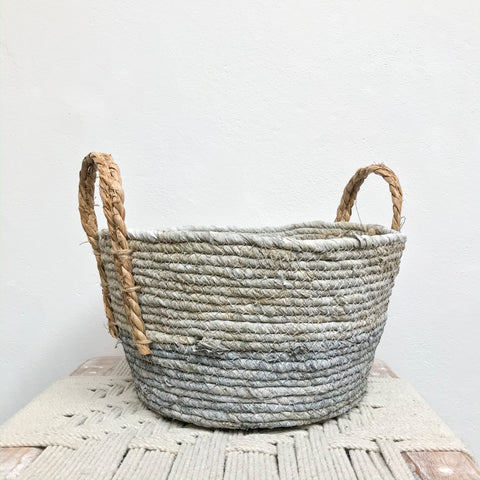 Pale Grey Basket - Medium