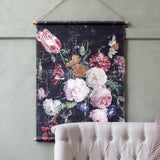 French Floral Canvas Wallhanging - Small