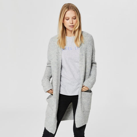 Snuggly Light Grey Cardigan