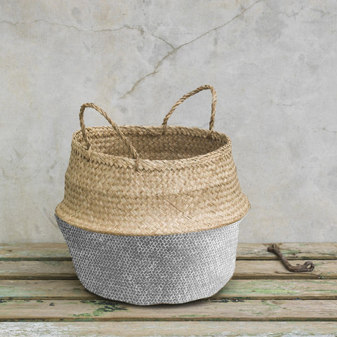Grey Base Belly Basket Medium
