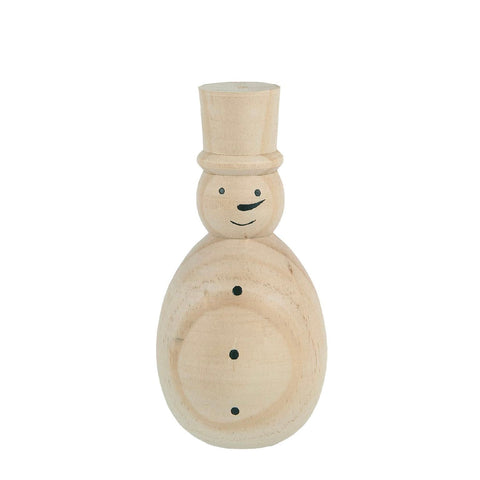 Handpainted Wooden Snowman
