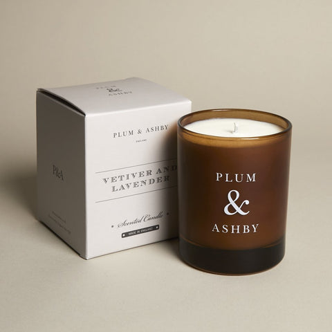 Plum & Ashby 60 hour Vetiver & Lavender Scented Candle