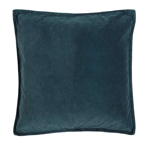 Velvet Cushion in Petrol Blue