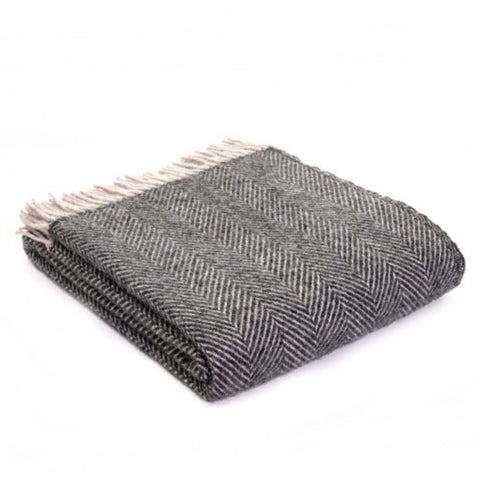 Grey Wool Throws