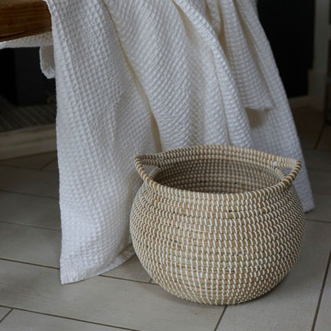 Seagrass Basket with Handles Small