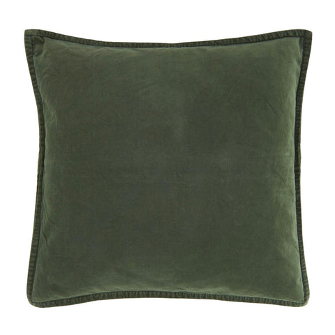 Velvet Cushion in Dark Green