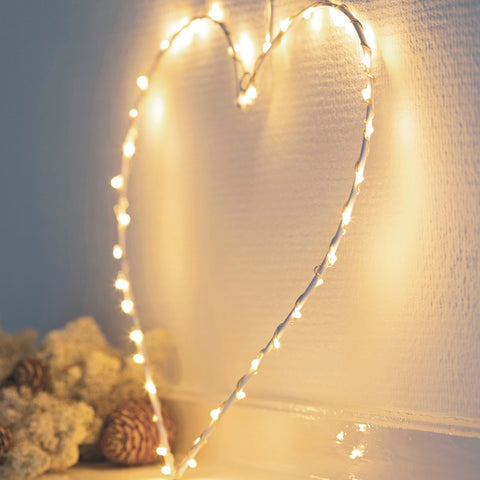 White LED Heart 26cm