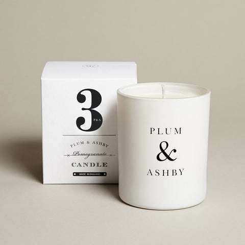 Plum & Ashby 60 hour Pomegranate Scented Candle