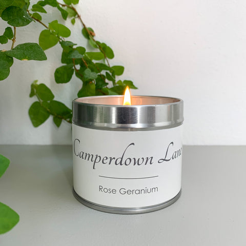 Camperdown Lane Rose Geranium Candle