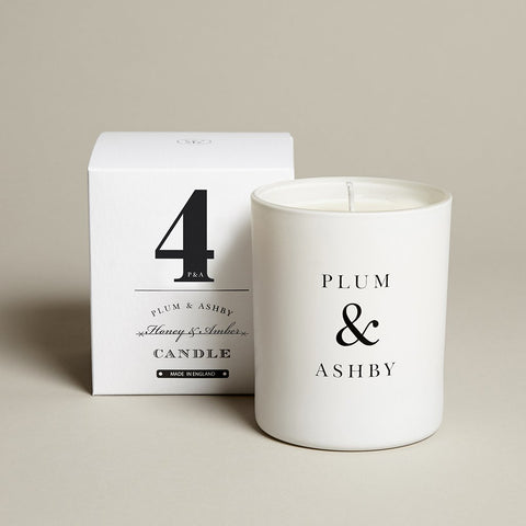 Plum & Ashby 60 hour Honey & Amber Scented Candle