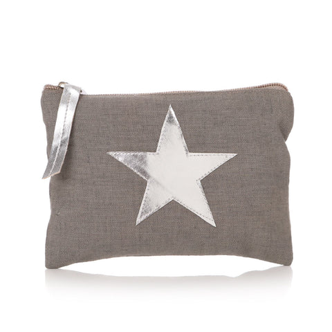 Grey Cotton Purse