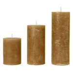 Slim Rustic Pillar Candles in Turmeric