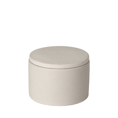 Porcelain Storage Pot in Moonbeam